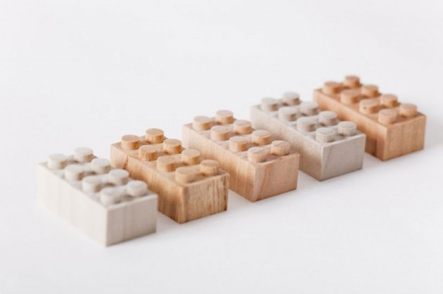 Wooden Lego Blocks 1