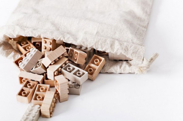 Wooden Lego Blocks 2