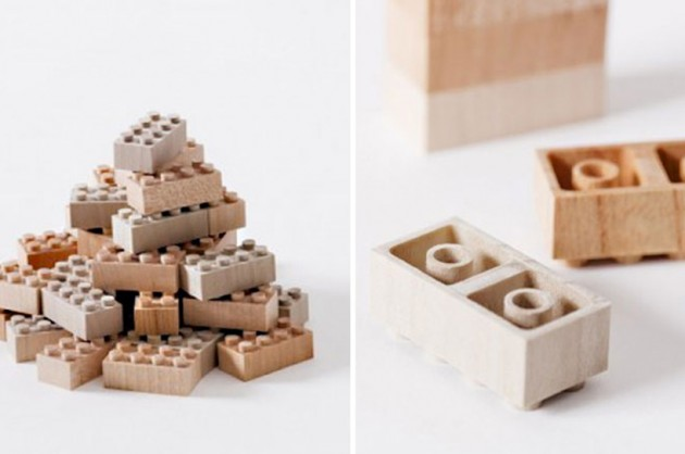 Wooden Lego Blocks 3