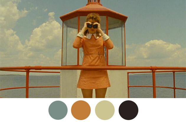 Wes Anderson Color Palettes 1