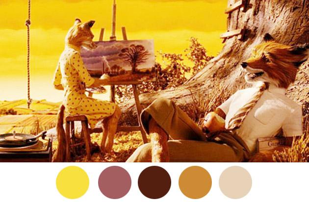 Wes Anderson Color Palettes 2